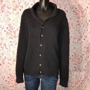 Men's ASOS Dark Gray Button Shawl Cardigan Small